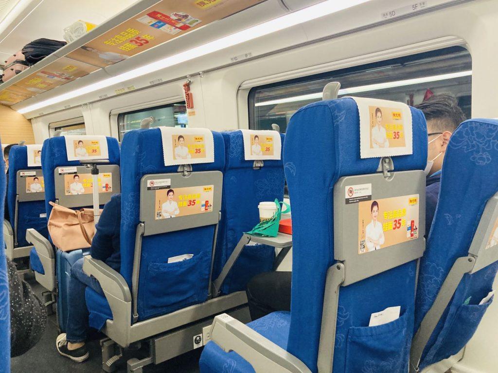 中国高速列車 車内